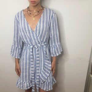 New look cotton faux wrap dress